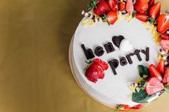 Den mest härliga och mest läckra kakan Bröllop födelsedag Möhippa royaltyfri bild