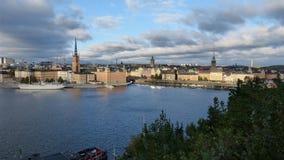 Den mest härliga sikten av Stockholm Arkivfoton