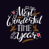 Den mest underbara tiden av året stock illustrationer