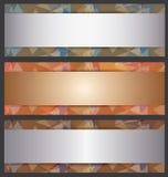 Den metalliska banerabstrakt begreppmallen Royaltyfri Foto