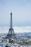 Den metalliska Eiffeltorn Arkivfoto