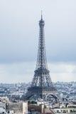 Den metalliska Eiffeltorn Fotografering för Bildbyråer