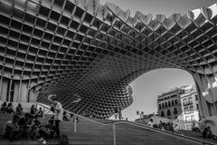 Den Metropol slags solskydd, Setas de Sevilla, Spanien arkivbild