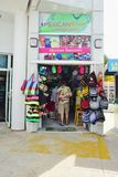 Den Mexian souvenir shoppar Costa Maya Mexico Royaltyfri Fotografi