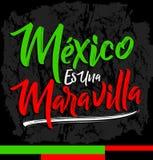 Den Mexico ereshermosoen, Mexico är du härlig spansk text Arkivfoto