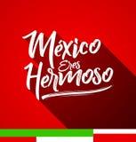 Den Mexico ereshermosoen, Mexico är du härlig spansk text Arkivbild