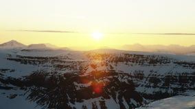 Den midnatta solen i arktisken lager videofilmer