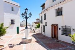Den Mijas puebloen, vit tvättade byn Arkivbild