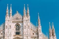 Den Milan Cathedral eller Duomodien Milano är domkyrkakyrkan av Mi Royaltyfria Foton