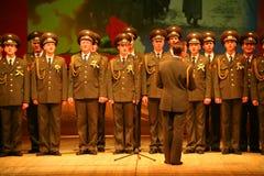 Den militära kören av den ryska armén Royaltyfri Bild