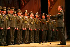 Den militära kören av den ryska armén Royaltyfri Foto