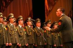 Den militära kören av den ryska armén Arkivbild