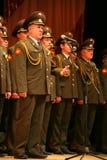 Den militära kören av den ryska armén Arkivfoto