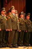 Den militära kören av den ryska armén Fotografering för Bildbyråer