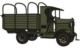 Den militära lastbilen för tappning stock illustrationer