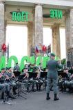 Den militära musikbandet Tirol (Österrike) utför i Moskva Arkivbild
