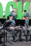 Den militära musikbandet Tirol (Österrike) utför i Moskva Royaltyfri Foto