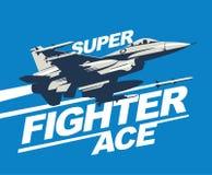 Den militära nivån avfyrade en missil Jaktflygplanvektorillustration royaltyfri illustrationer