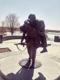 Den militära statyn på minnes- veteran` s parkerar Royaltyfria Foton