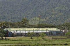 Den minimum säkerhetssammansättningen av det Iwahig fängelset Arkivfoto