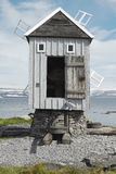 Den minsta stolpen - kontor i Europa, Vigur ö royaltyfri bild