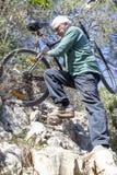 Cykla för ytterlighetberg Royaltyfria Bilder