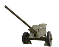 Den mmanti--behållare för sovjet 45 kanonen av världskrig II Arkivfoto