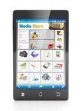 Den mobila teknologimobilen shoppar Arkivfoton