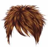Den moderiktiga rödhåriga mannen för den röda ingefäran för korta hår för kvinnan färgar frans Royaltyfri Foto