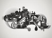 Den moderna abstrakt begrepp med vätska formar Arkivfoton