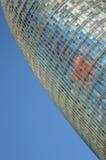 Den moderna Agbar tornbyggnaden i Barcelona Royaltyfri Bild