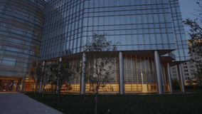 Den moderna arkitekturen av Devon Energy byggnader i oklahoma city - USA 2017 arkivfilmer