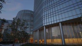 Den moderna arkitekturen av Devon Energy byggnader i oklahoma city - USA 2017 lager videofilmer