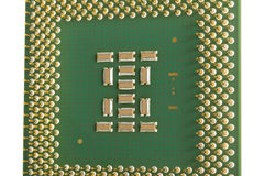 Den moderna CPUen Arkivfoton