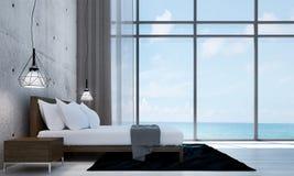 Den moderna designen och betongväggen för vindsovruminre texturerar bakgrund Royaltyfri Bild