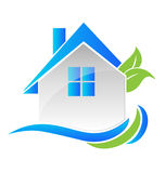 Den moderna fastigheten inhyser logo Fotografering för Bildbyråer