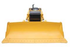 Den moderna gula bulldozern Royaltyfri Fotografi