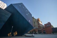 Den moderna judiska museumbyggnaden Arkivbilder