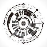 Den moderna kompasset steg royaltyfri illustrationer