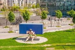 Den moderna Marseillen Arkivbilder