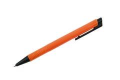 Den moderna orange pennan som isoleras på vit bakgrund och, har urklippet Royaltyfria Foton