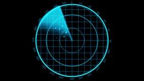 Den moderna radar sreen skärm royaltyfri illustrationer