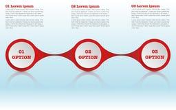 Den moderna roudned infographicsen för tre moment, cirklar infographic Royaltyfria Foton