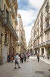 Den modernistiska fasaden av filateli shoppar, i Barcelona Fotografering för Bildbyråer