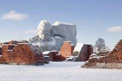 den modiga monumentet till kriger Fotografering för Bildbyråer