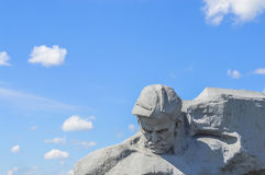 den modiga monumentet till kriger Royaltyfria Bilder