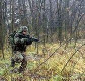 den modiga soldaten kriger Fotografering för Bildbyråer