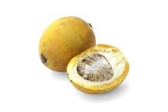 Den mogna aceraen eller betelen gömma i handflatan mutterfrukt med banan Royaltyfri Foto