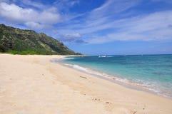 Den Mokuleia stranden parkerar, den norr kusten, Oahu Arkivfoton