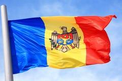 Den Moldavian flaggan Arkivbilder